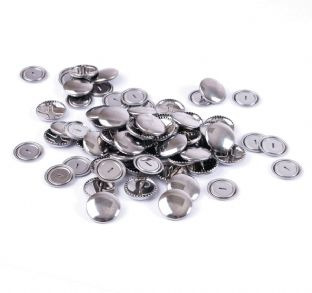 473.19 Self Cover Buttons: Metal Top - 19mm, 100 Sets